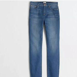 J Crew Daisy wash high rise skinny jeans NWT